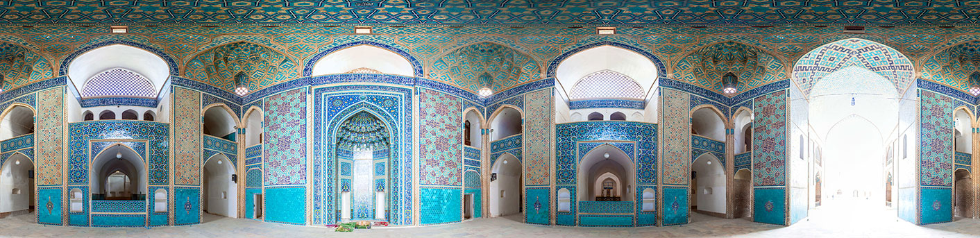 Interior-of-Jameh-MosqueYazd-Iran
