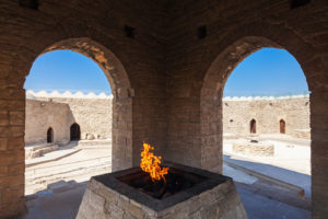 the Zoroastrian Fire temple